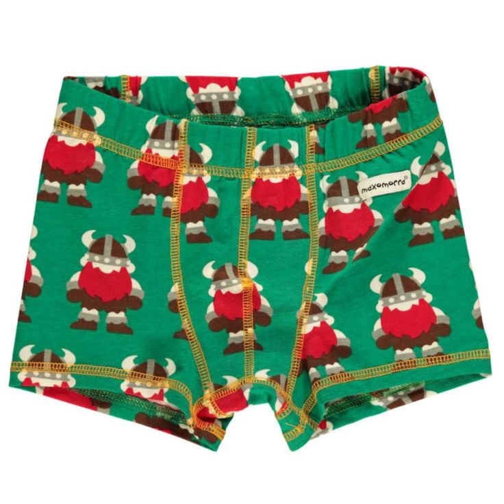 These funky children's boxer shorts with viking print are from Maxomorra. We just love them!