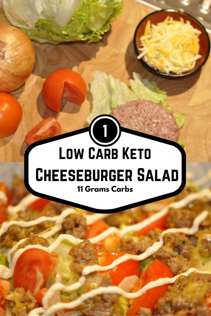 Low Carb Keto Friendly Cheeseburger Salad is the best Cheeseburger Salad Ever. Sure to be one of your favorites! Carbs 11 grams. Easy recipe for 1!