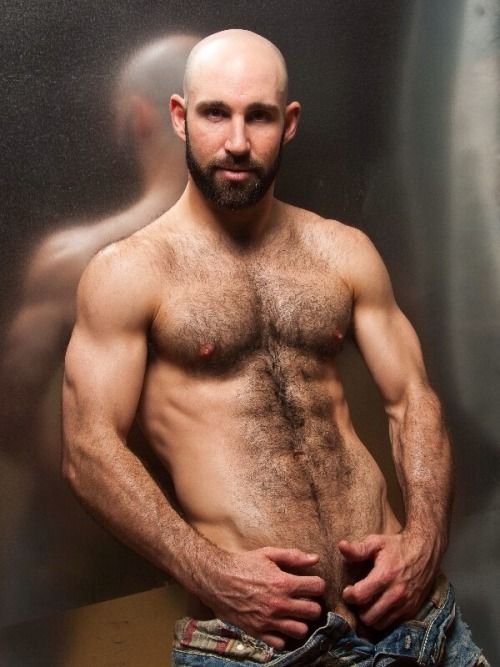 Sexy young shaved head men
