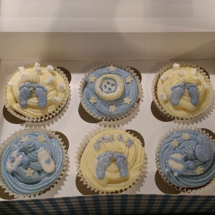 Christening cupcakes / New baby cupcakes / baby boy cupcakes