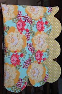 scalloped edge baby quilt--looks pretty easy, Kimmy, no piecing....