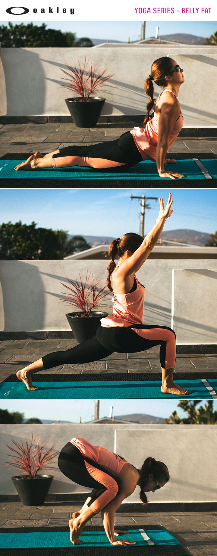 Strengthen your core with these yoga moves for targeting belly fat. Video Yoga series. National Yoga Month