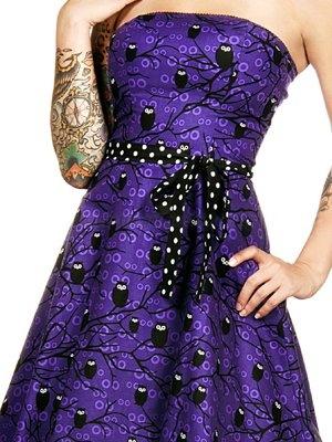 Night Owl Strapless Purple Halloween Dress by Folter