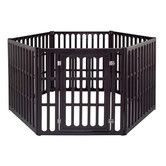 Found it at Wayfair - Extra Large 6-Panel Indoor/Outdoor Pet Pen in Brown