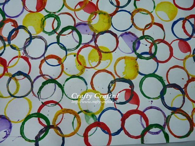 C is for Circles - toilet paper roll art. I have been saving my empty paper towel  and foil tubes for awhile now. Cant wait to do this with my class!!