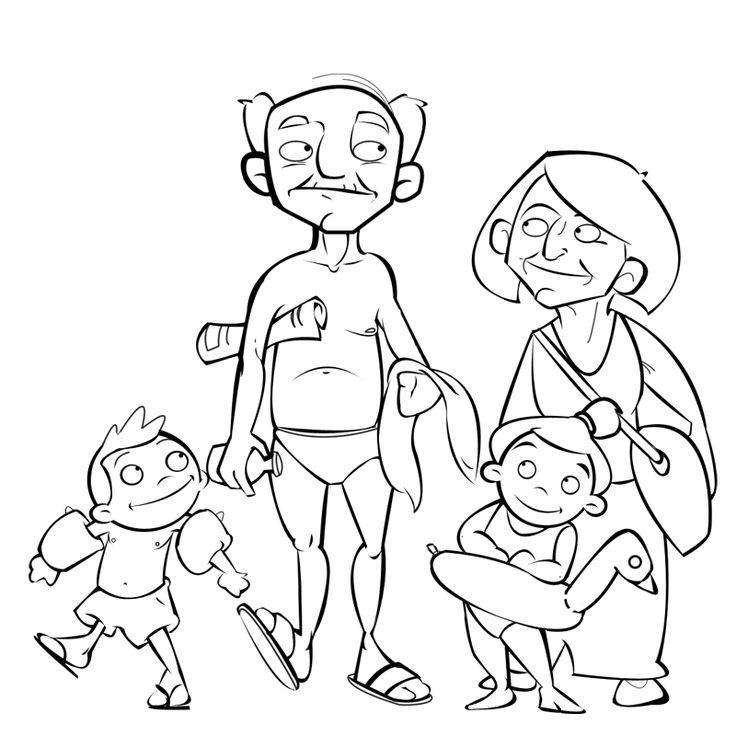 niños dibujos con sus abuelos - Buscar con Google