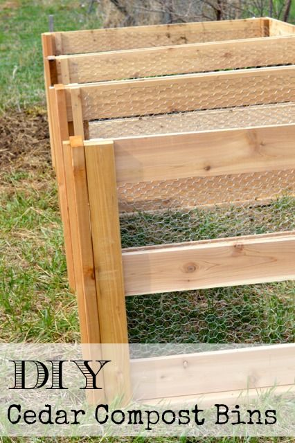 DIY cedar compost bins