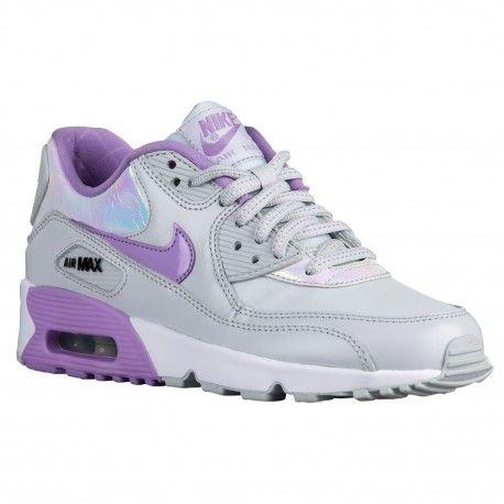 Nike Air Max 90 - Girls\u0027 Grade School - Running - Shoes - Pure Platinum/Urban  Lilac/Anthracite/White-sku:59633002