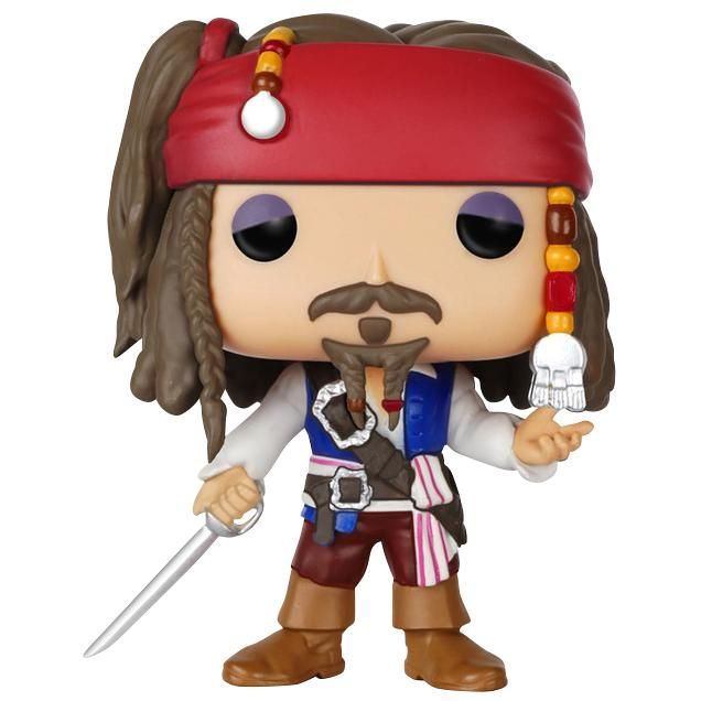 Pirates Of The Caribbean - Captain Jack Sparrow Vinyl Figure 172  - Sammelfigur - Höhe ca. 10 cm - Vinylfigur Nr. 172  Captain Jack Sparrow ist wohl der coolste und gewiefteste Pirat aller Zeiten. Wenn du auch auf diesen schrägen Typen stehst, dann aufgepasst. Diese Pirates Of the Caribbean Captain Jack Sparrow Vinyl Figure 17 der Marke Funko Pop! ist ein wahrer Schatz - nicht nur für Piraten.