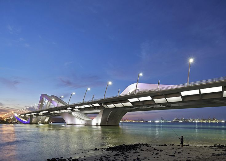 Sheikh Zayed Bridge by Zaha Hadid photographed by Hufton+Crow / @Dezeen magazine magazine | #arquitectonico #persiangulf