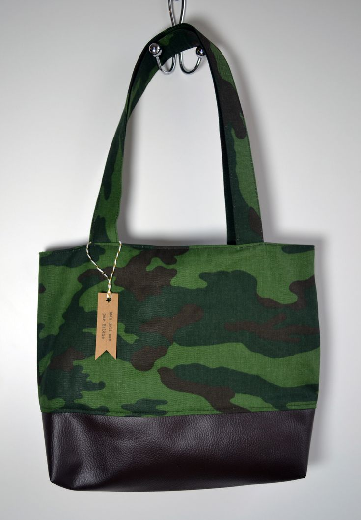 "Sac cabas motif camouflage ""militaire"""