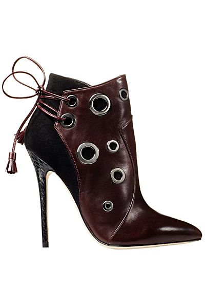 Brian Atwood Dark Brown Lace-Up Ankle Boots Fall-Winter 2014 #Shoes #Heels #Booties