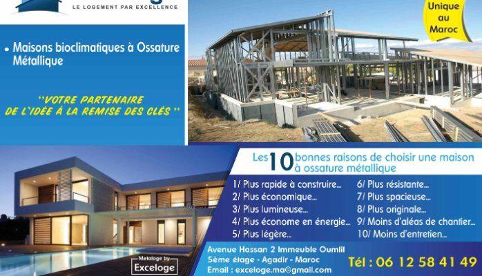 Nouveau au Maroc  maison bioclimatique Exceloge Abdellatif