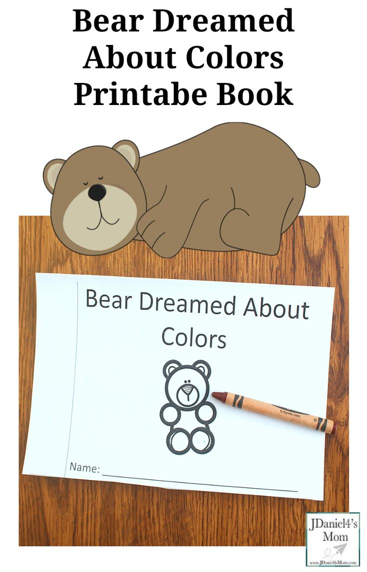 Bear Dream About Colors Printable Book - This printable was created to explore after reading the book Bear Snores On. Children at school or students at school will enjoy this book to color. There is a you color version and a bear is already colored version. Both are a great way for preschooler or kindergartners to learn about colors. #vbcforkids #printable #preschool #bears #beartheme