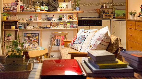 Mie's Home『潔く柔く きよくやわく』カンナと禄、それぞれの暮らしぶりが見える部屋 | CINEmadori シネマドリ | 映画と間取りの素敵なつながり