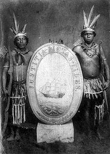 Surinamese history: Portrayal of an old Surinamese coat of arms