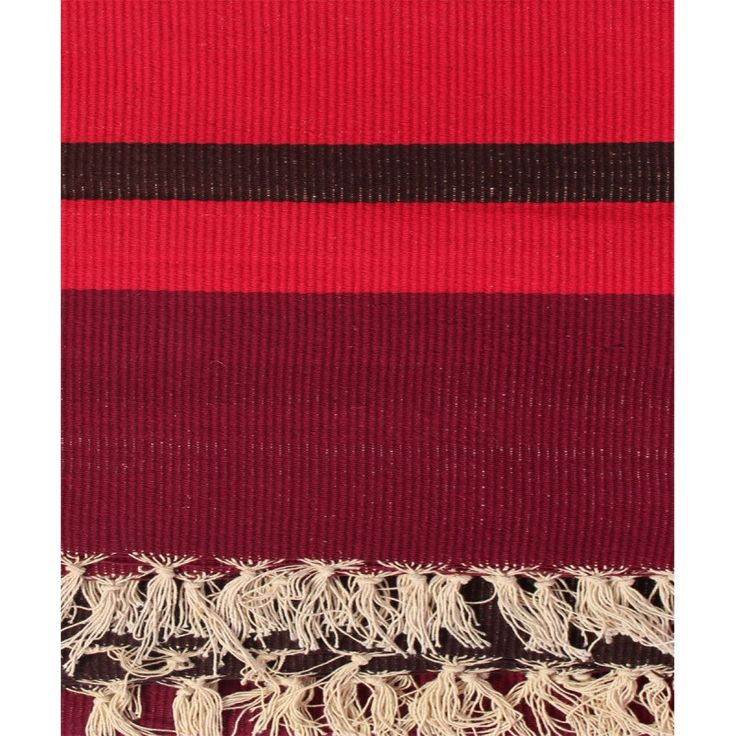 Red and black cotton durry