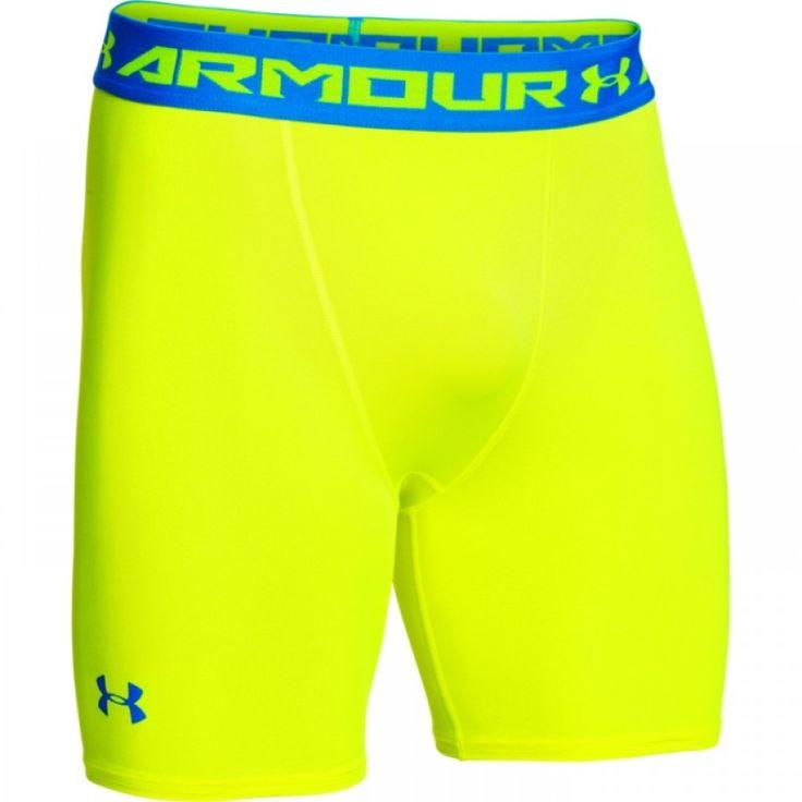 Pánské žluté kompresní trenky Under Armour Modré