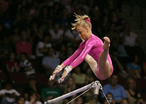When your hands are ripped and your body's sore.. gymnasts get up and ask for more. <3