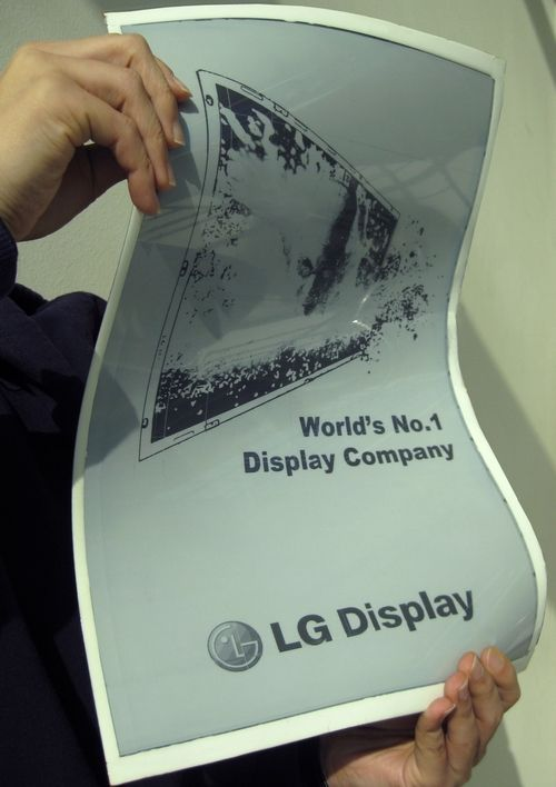 Flexible display, is something new and interesting. Maybe we could reduce our paper consume...