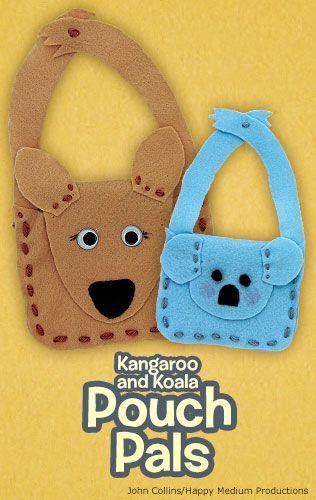 Make an adorable kangaroo or koala felt purse inspired by a marsupial's pouch! nwf.org/kids