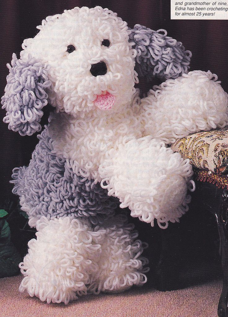 Crochet Pattern English Sheepdog Stuffed Animal Dog Instructions | eBay