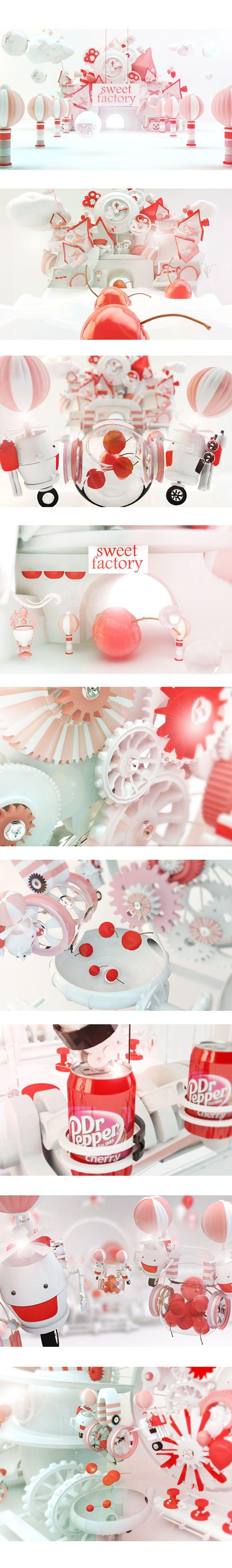 dr.pepper by aram kwak, via Behance - 3D Typography Design Modelling