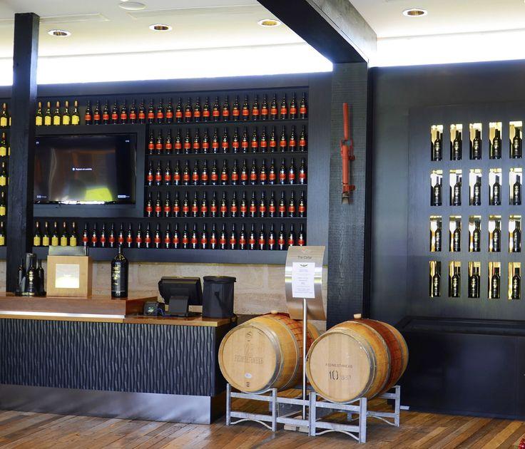 Interior of wolf blass estate winery visitor center wine sales room.