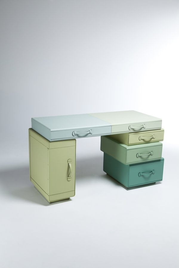 Writing/Dressing Table of Suitcases by Maarten De Ceulaer - I would love this in my house (or attempt a DIY of it!)