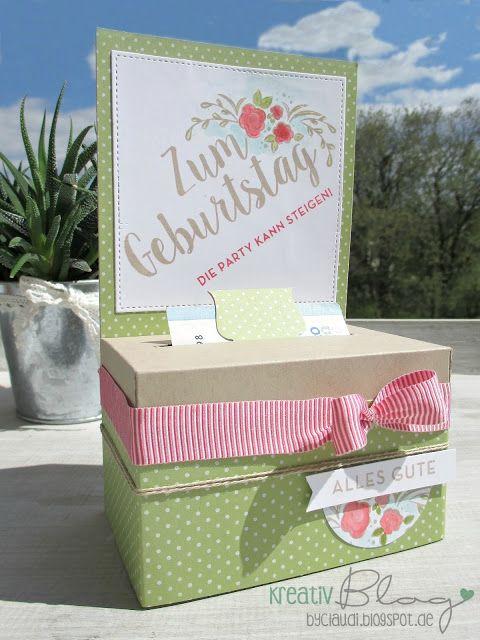 "Kreativ Blog by Claudi: Geldrollbox ""zum Geburtstag"""
