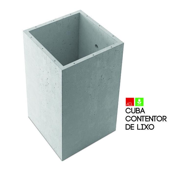 Cuba Contentor de Lixo Vat for Garbage Container  #acl #acimenteiradolouro #eco #ecologic #green