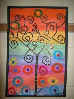 WHAT'S HAPPENING IN THE ART ROOM??: 3rd Grade: Klimt Trees
