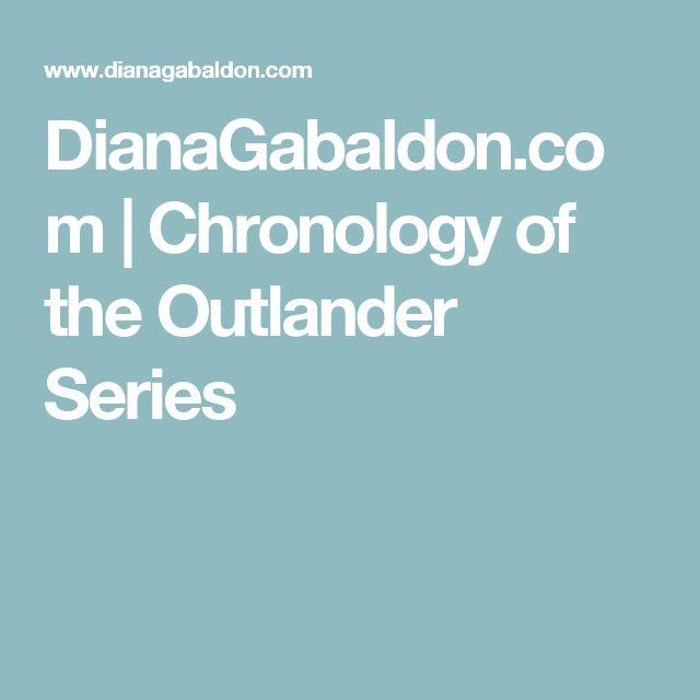 DianaGabaldon.com | Chronology of the Outlander Series