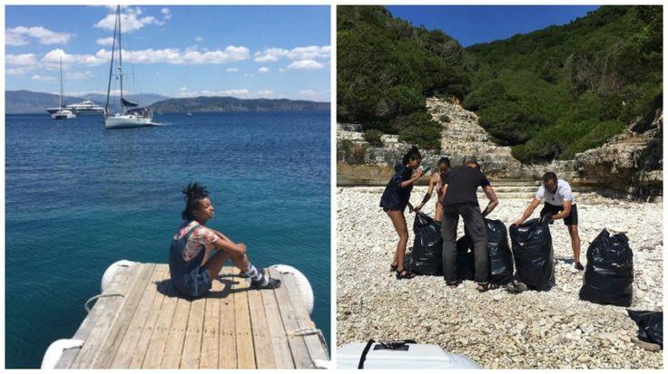 Από τις διακοπές της οικογένειας Σμιθ στην Ελλάδα. Φωτογραφίες από τον προσωπικό λογαριασμό της Willow Smith στο Ιnstagram