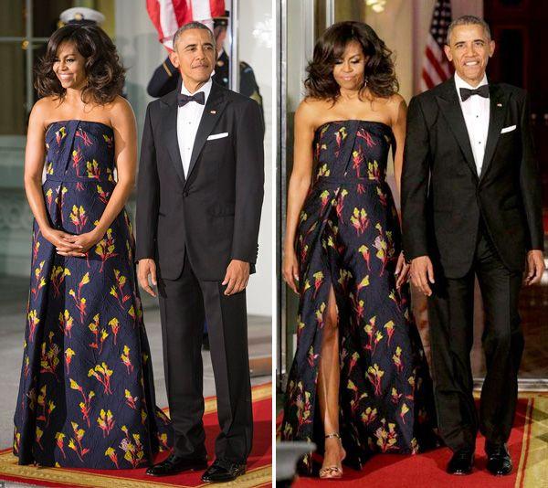 Vestido de festa como inspiração para mãe de noiva | Michelle Obama veste Jason Wu