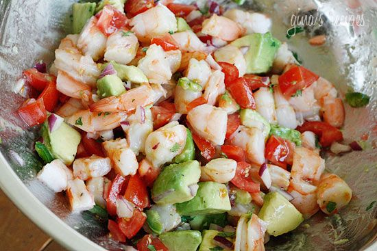lime, shrimp & avocado salad (+recipe)