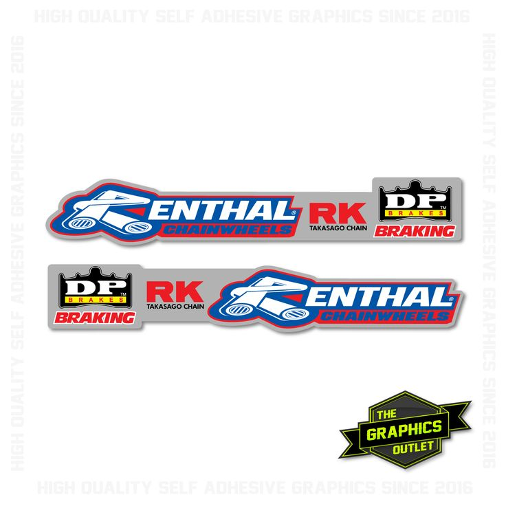 UNIVERSAL MOTOCROSS SWINGARM GRAPHICS SET - STYLE 3 - AVAILABLE IN PEE WEE / YOUTH / ADULT SIZING