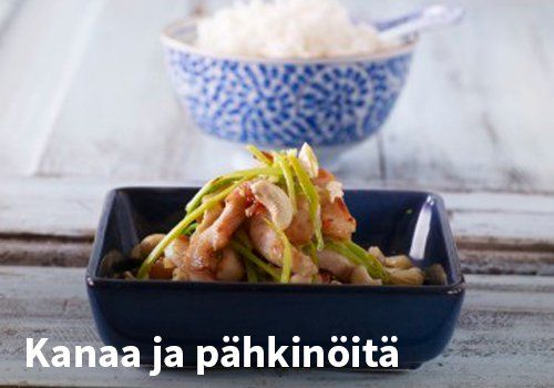 Kanaa ja pähkinöitä #kauppahalli24 #resepti #kanaa #pähkinä #verkkoruokakauppa
