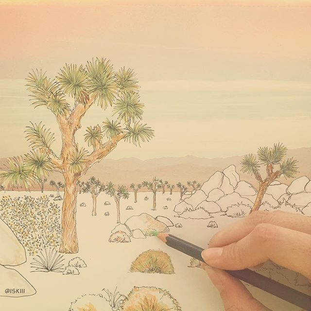 joshuatree 🏜 ❑ art by https://www.instagram.com/iskiii/