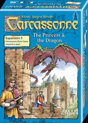 Carcassonne Board Game Expansion: Princess and Dragon Details and Review