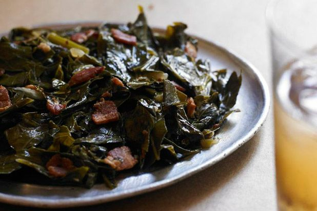 Table & Main in Roswell, G.A. shares their recipe for collard greens. With bacon, onions, and sprinkled with red pepper flakes, this is a...