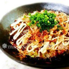 食べ過ぎOK❀豆腐とキャベツのお好み焼き