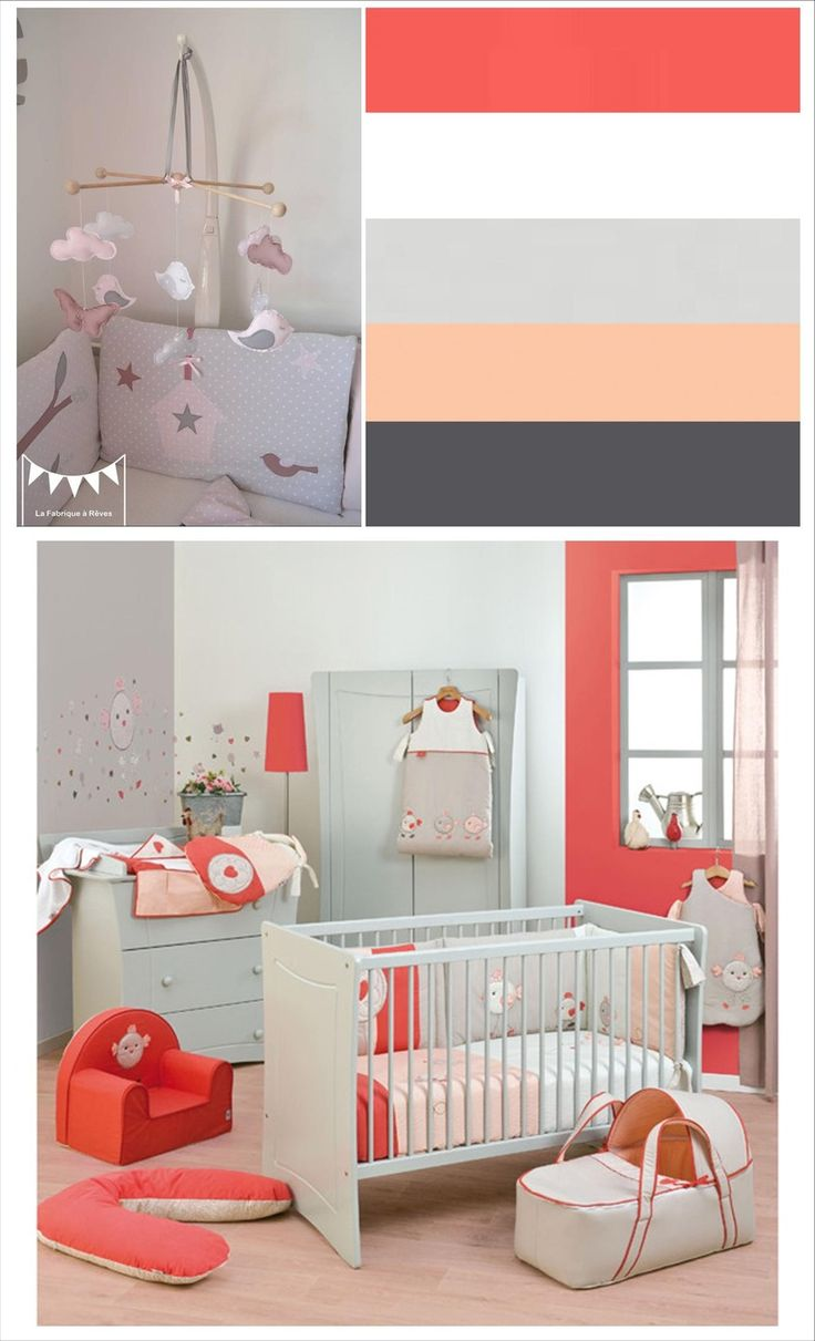 chambre bebe gris corail avec des id es int ressantes pour la conception de la. Black Bedroom Furniture Sets. Home Design Ideas