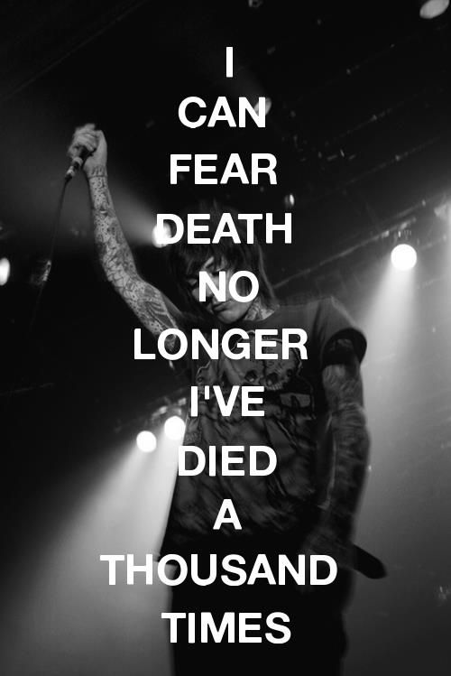 Hospital for Souls - Bring Me the Horizon. This is my favorite line from the song..