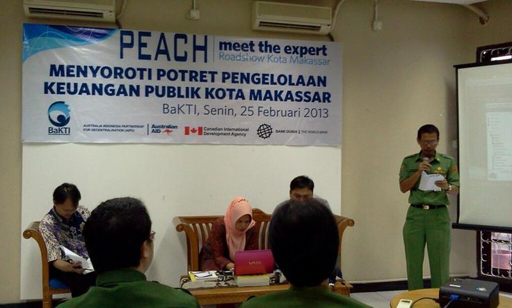 Public Expenditure Analysis (PEACH) program event in early 2013