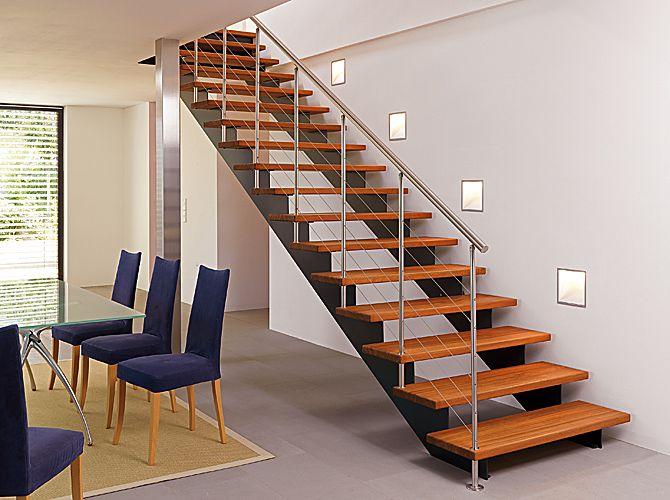 17 mejores ideas sobre escaleras de acero en pinterest - Escaleras interiores de madera ...
