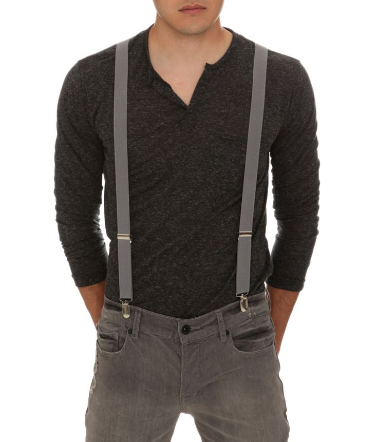 Civil Outfitters Light Gray Super Polyester Suspender with Key Chain Dairy