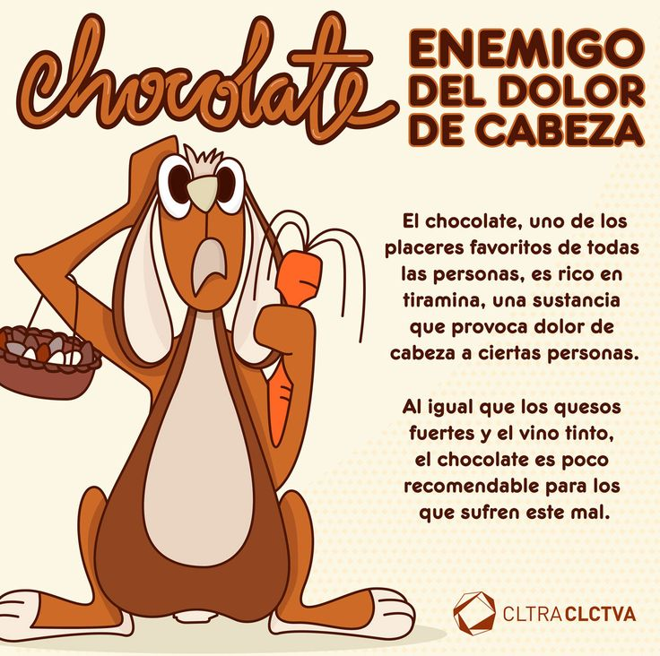 Chocolate, enemigo del dolor de cabeza.