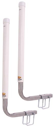 "CE Smith Post-Style Guide-Ons for Boat Trailers - 40"" Tall - White - 1 Pair CE Smith Boat Trailer Parts CE27620"