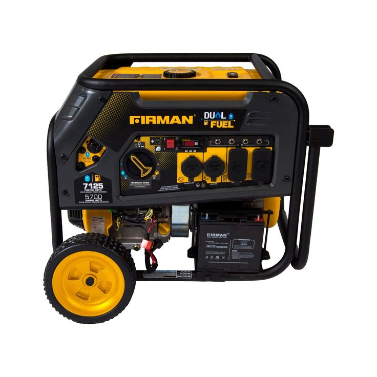 5700/7100W Hybrid Series Dual Fuel Generator With Electric Start-Non Carb Compliant - Black - Firman Power